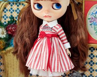 Sugarbabylove - Red stripe set for Blythe