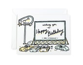 Drive In Movie Happy Birthday Letterpress Card