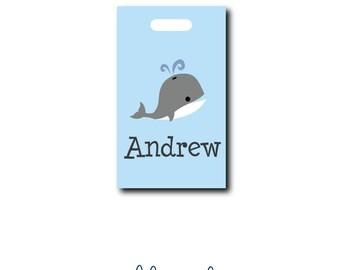 Whale Bag Tag - Whale Luggage Tag - Custom Bag Tag - Personalized Bag Tag - Monogram Bag Tag - Design Your Own - Diaper Bag Tag