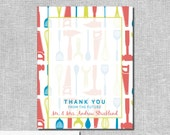 Tool & Kitchen Shower Thank You Cards - His and Hers - Personalized Printable File or Print Package Available - #00008-TYA2