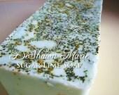 3.5 lb Soap Loaf -SOAP -  Sugar Lime Soap Loaf - Vegan Handmade Soap Loaf, Wholesale Soap Loaves, FREE SHIPPING
