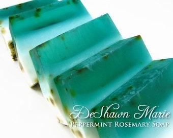 SOAP - 3 lb. Peppermint Rosemary Vegan Handmade Soap Loaf, Wholesale Soap Loaves