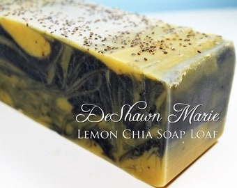 SOAP - 3 lb. Lemon Chia Handmade Soap Loaf, Wholesale Soap Loaves, Vegan Soap, Cold Processed Soap, Natural Soap