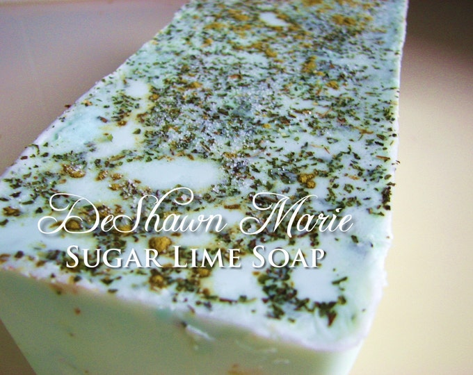 SOAP - 3lb Sugar Lime Soap Loaf - Vegan Handmade Soap Loaf, Wholesale Soap Loaves