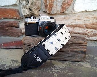 "Palm Tree Camera Strap- ""Royal Palms"" Handmade"