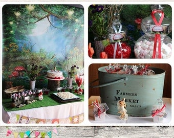 The Enchanted Forest Party Set - DIY - Digital File - Printable - Customised - INSTANT DOWNLOAD