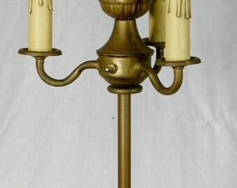 Vintage Floor Lamp six way Slag Glass Milk Glass rewired
