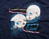 J&M Corporation Motorcycle Helmet Audio Products T-Shirt, Vintage 1992