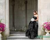 Gorgeous Black Wedding Dress READY TO SHIP
