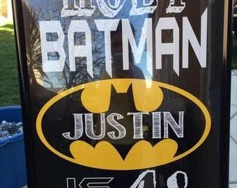 "Personalized ""Holy Batman"" 20x30 Digital file"