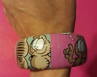 Garfield Nermal Cat Decoupage Bracelet