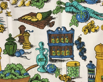 Vintage Oil & Vinegar Table Cloth