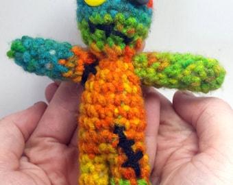 Crochet Toy Doll ~ Creepy Doll ~ Patchwork Doll ~ Crochet Amigurumi  ~ Plushy Toys ~ Amigurumi Doll ~ Gift for Boy or Girl FREE SHIPPING