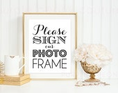 Please Sign Our Photo Frame Guest Book Wedding Sign Decoration Instant Download