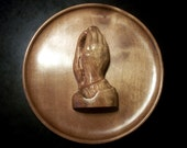 Carved Wood Praying Hands Wooden Spiritual Art Gift ideas for Home Wall Hanging Decor