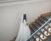 Bridal veil - Soft English net veil - Wedding veil -  Elbow, Waist, Fingertip, Waltz, Floor,  Chapel, Cathedral