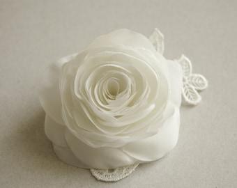 Bridal hair clip, Rose hair clip, Wedding hair flower, Wedding hair accessory