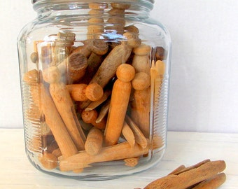 Rustic Wood Clothespins / 10 Pieces / Farmhouse Decor / Old Clothespins