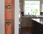 The Dorchester Growth Chart -- Vintage ruler height chart made to look like a giant wooden ruler, printed on vinyl