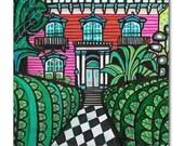 65% Off- Savannah  Georgia Art Tile Ceramic Cityscape City Modern Abstract Print on Coaster