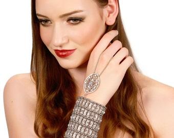 Silver Bridal Bracelet / Crystal Gatsby Bracelet / Crystal Wedding Bracelet / Rhinestone Bracelet / Kristin Perry