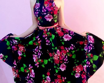 Eleanor Summer Floral Swing Dress