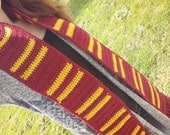 October Sale!!! Harry Potter-inspired Crocheted House Scarf