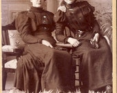 Women In Their Finest BLACK VICTORIAN DRESSES and Hats cdv Photo circa 1890 Lowville New York