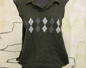 Upcycled Sweater Vest / Oversized Tank / Unisex