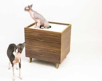 Mid century modern cat furniture litter box by modernistcat - Modern cat litter box furniture ...