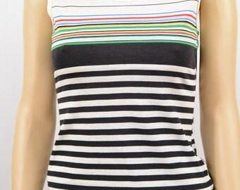 Vintage Striped Tank Top, Size XS, Punk, Retro, 70's Clothing, Riot Girl, Tumblr Clothing