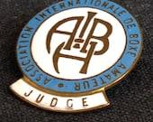 French International Boxing Association vintage Judge badge.