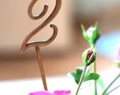 Wedding table numbers, Wood table numbers, Blank table numbers, DIY wedding, Rustic wedding decor, Lasercut wood numbers, TN-2