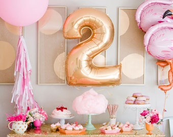 """Sale 40"""" JUMBO NUMBER Balloons Balloon Letter Balloons Gold Rose Gold Birthday 1st Wedding Anniversary Sign Photo Prop Bridal Shower Large"""