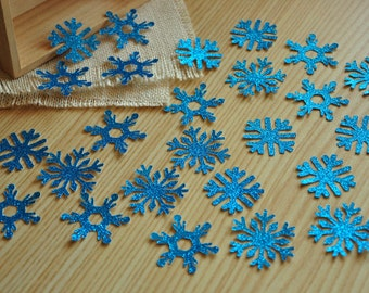 Frozen Birthday Party Decoration Confetti 25Ct.  Handcrafted in 2-3 Business Days.  Light Blue Glitter Snowflake Confetti.