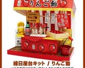 Billy dollhouse : Apple candy stall/DIY dollhouse/Billy Japan dollhouse miniatures/candy stall miniature/candy shop dollhouse, from JAPAN