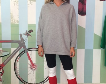 LEGGINGS Blue-Red-White, Maritime And Sporty Cotton Jersey Leggings, Tight Fit,Nautical Jersey Pants, Three Colors, Colorblocking,Surfstyle