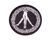 Peace Patch -Embroidered Patch - Peace Sign - Peace Sign Patch -Nudists - Butt - Flowers - Sex - Ring of Flowers - Love