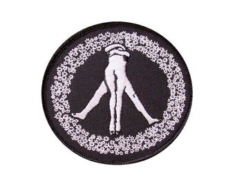Peace Patch -Embroidered Patch - Badge - Peace Sign - Peace Sign Patch -Nudists - Butt - Flowers - Sex - Ring of Flowers - Love