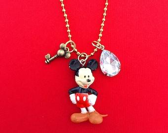 Disney Mickey Mouse Inspired Charm Necklace , giddyupandgrow
