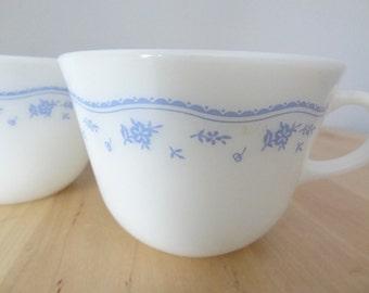 Pyrex Mugs Morning Blue Pattern