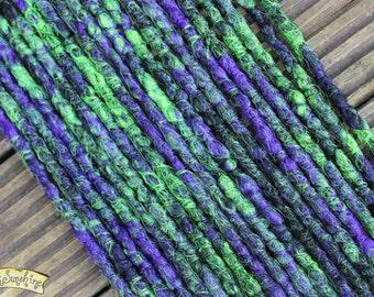 Witches Brew DE x10 Crochet Synthetic Dreads - black purple green