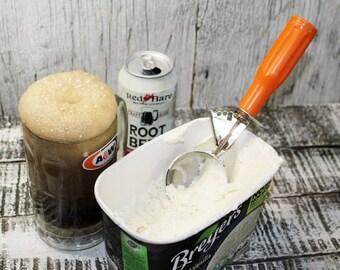 Orange Ice Cream Scoop, Vintage Ice Cream Scooper