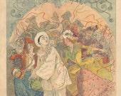Belle Epoque Poster Artist René Péan Soleil du Dimanche Cover, 1901