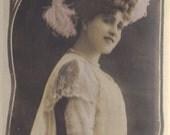 Marguerite Brézil, Bookmark Sized Postcard, Leopold Reutlinger, circa 1905