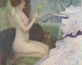 Eitelkeit, or Vanity, by Otto Friedrich, Pub. Carte Artistique Viennoise, circa 1910s