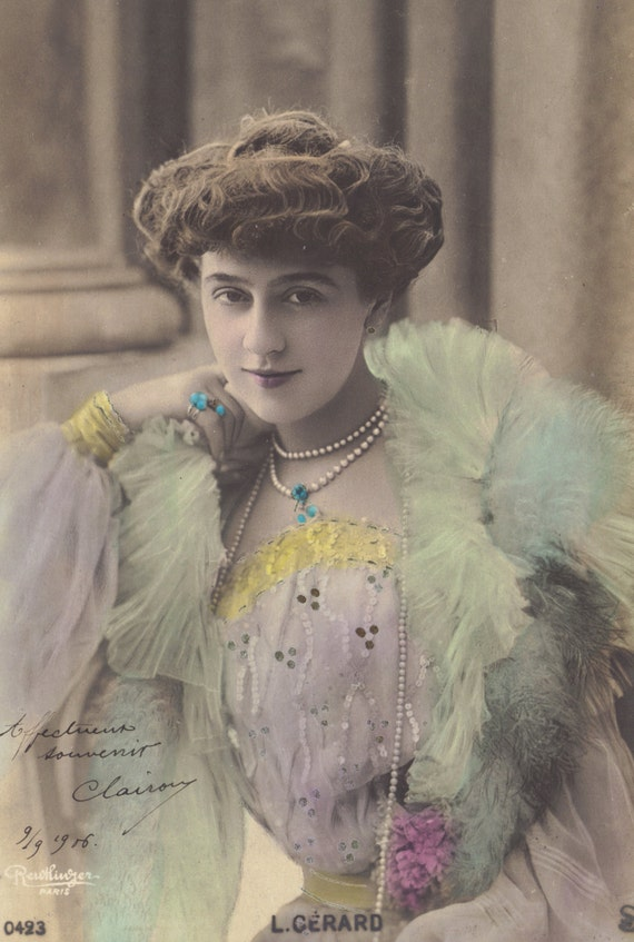 Lucy Gérard. French Actress, circa 1906 by Leopold Reutlinger