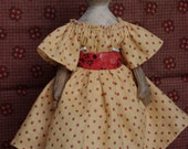 """PDF E pattern tutorial for 9"""" paperclay over cloth doll by The Little Hamptons. Primitive antique Style."""