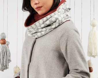 50% off: The Grey & Marsala Infinity Scarf