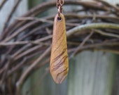 RESERVED FOR DAN. Olive Wood Pendant Handcrafted. Handmade One-Of-A-Kind. Maple. Earthy, Natural Pendant Jewelry.